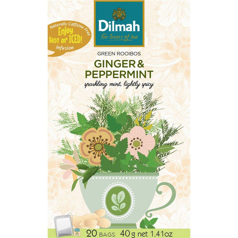 Dilmah Green Rooibos Ginger & Peppermint Tea Bags, 20 Each