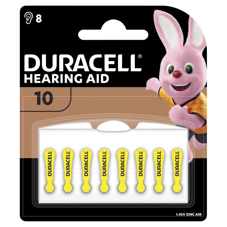 Duracell Hearing Aid Batteries 10, 8 Each