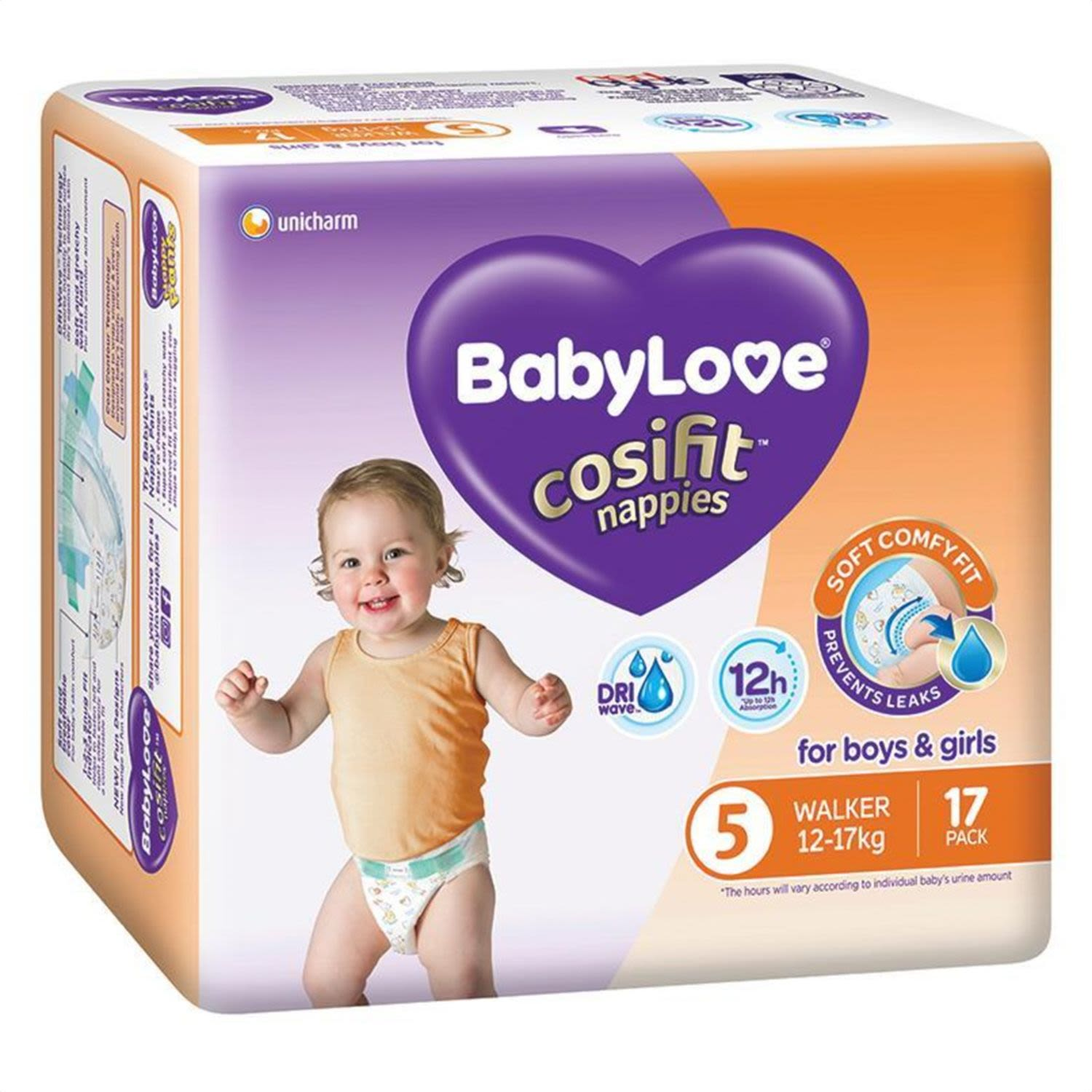 BabyLove Cosifit Convenience Nappy Walker, 17 Each
