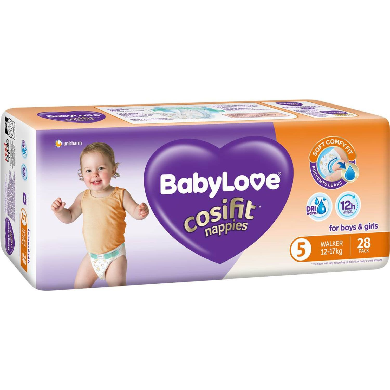 BabyLove Cosifit Bulk Nappies Walker, 28 Each