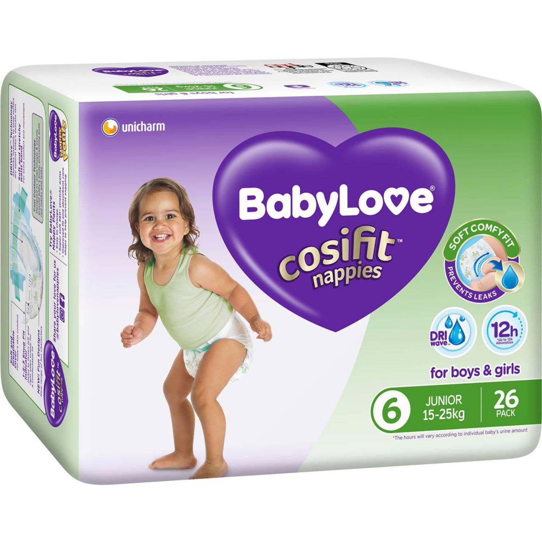 BabyLove Cosifit Bulk Nappies Junior, 26 Each