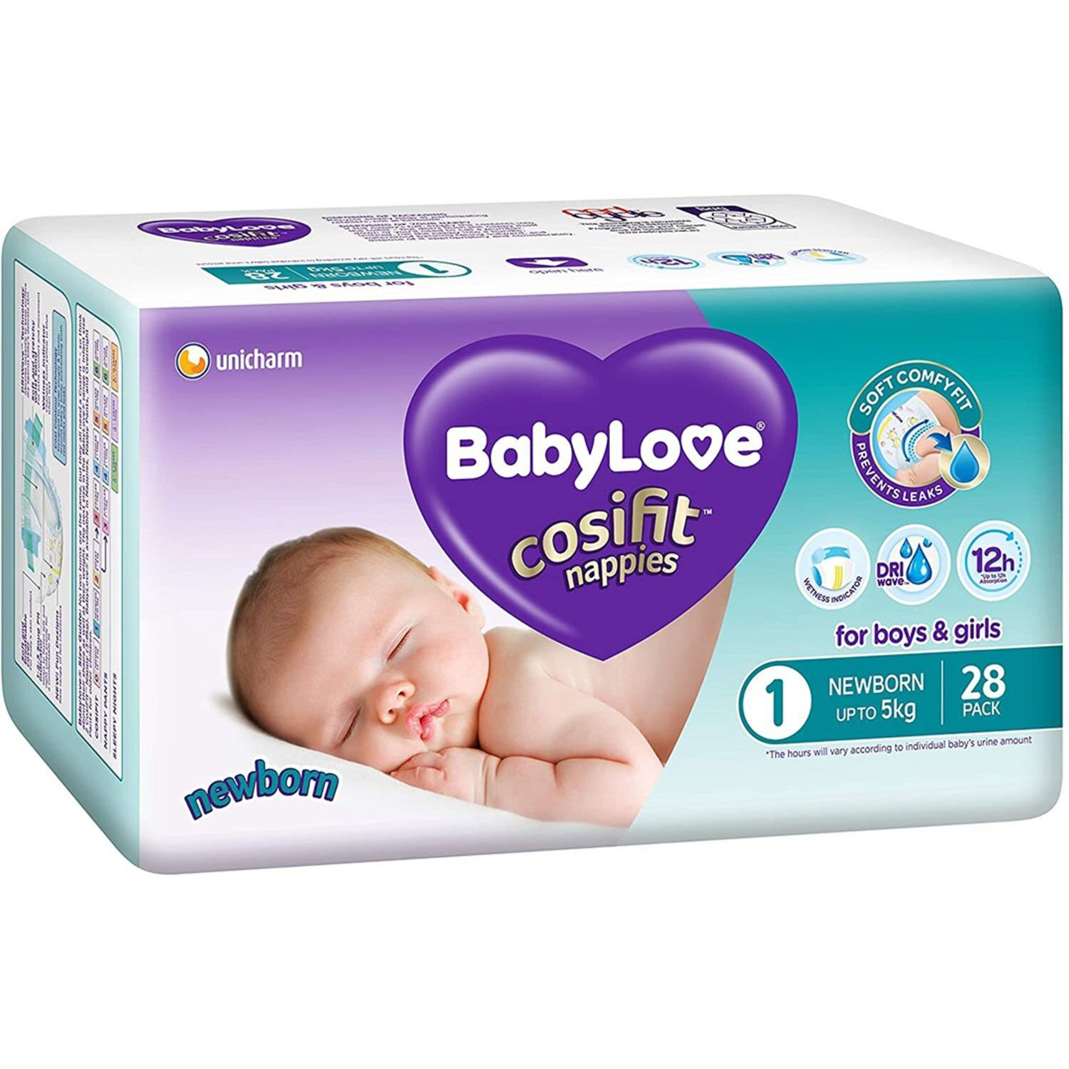 Babylove Cosifit Newborn Nappies, 28 Each