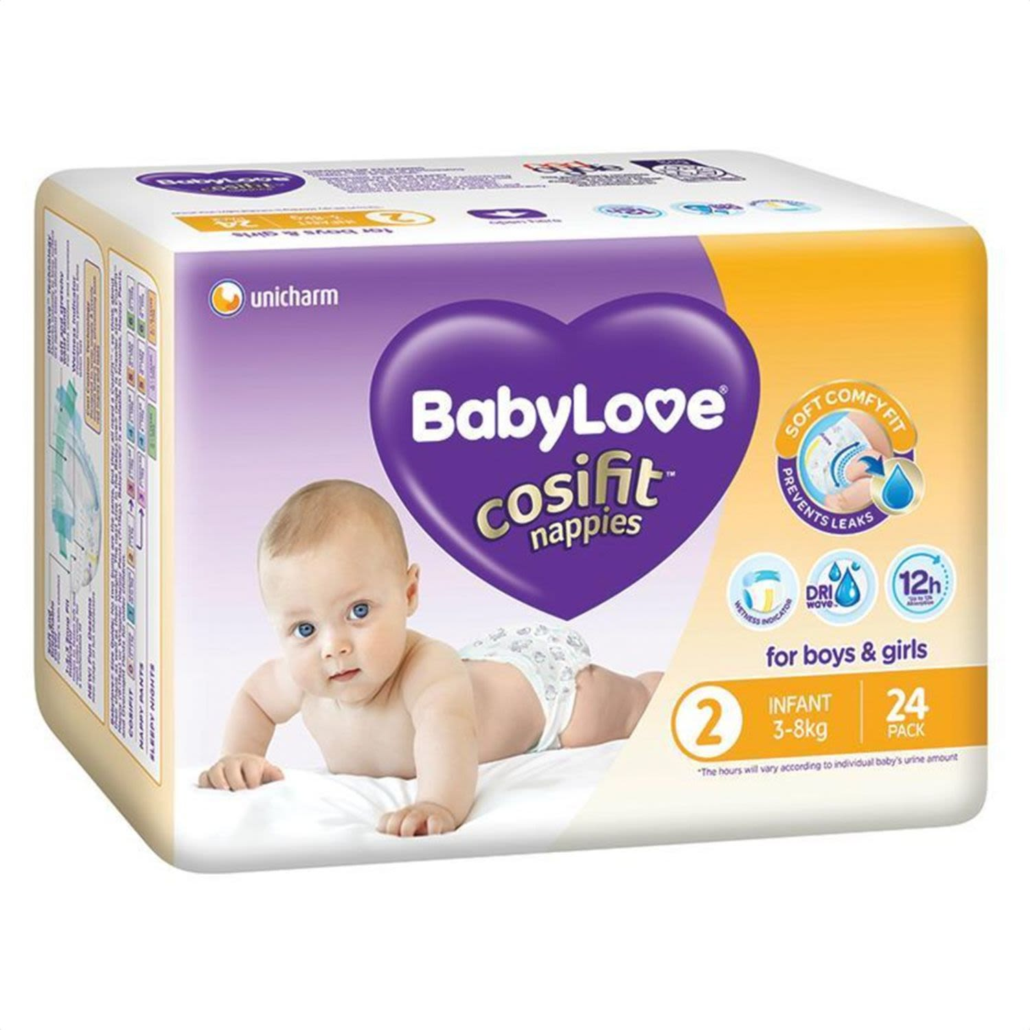 BabyLove Cosifit Nappies Infant, 24 Each