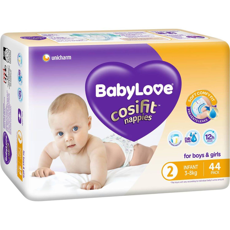 BabyLove Cosifit Bulk Nappies Infant, 44 Each