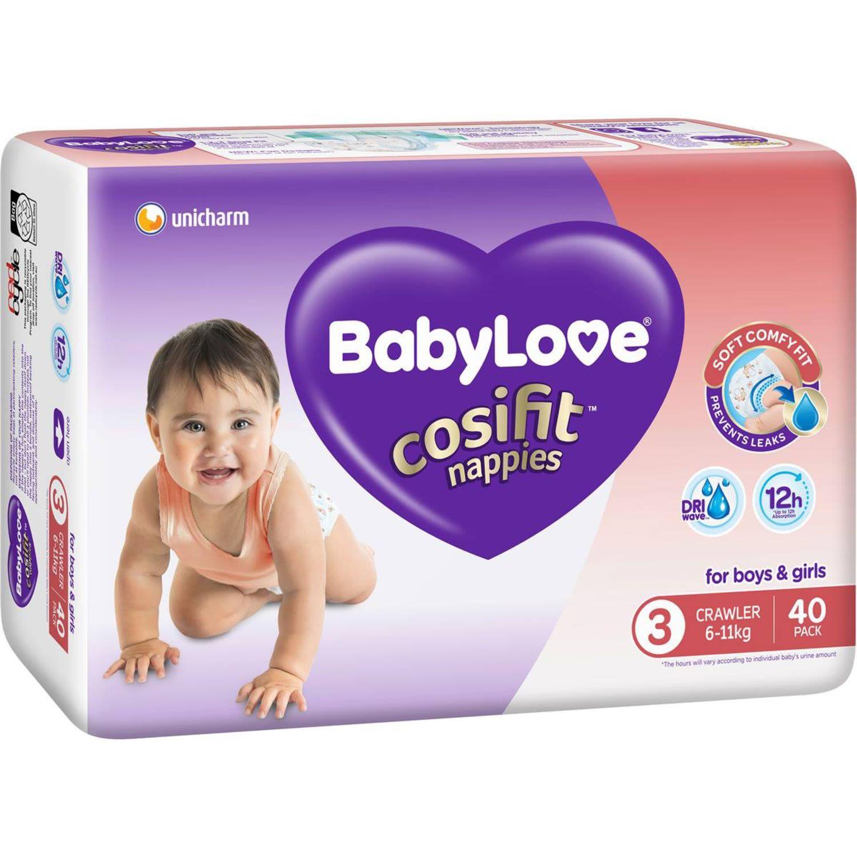 BabyLove Cosifit Bulk Nappies Crawler, 40 Each
