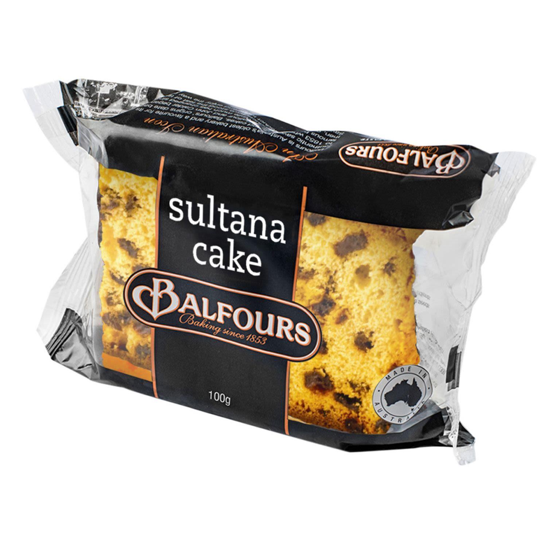 Balfours Sultana Cake, 100 Gram
