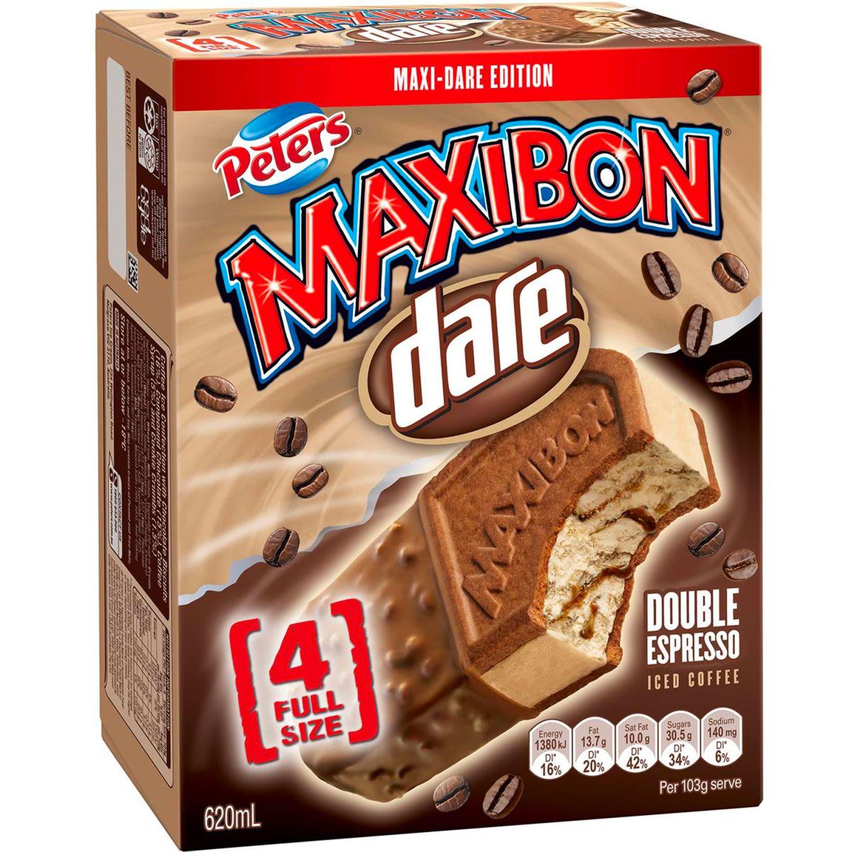 Peters Maxibon Dare Iced Coffee Ice Cream Sandwich, 4 Each