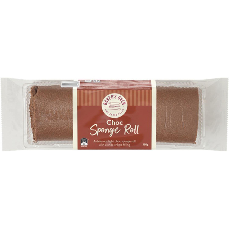 Baker's Oven Chocolate Sponge Roll, 400 Gram