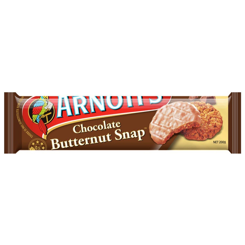 Arnott's Butternut Snap Chocolate Biscuits, 200 Gram
