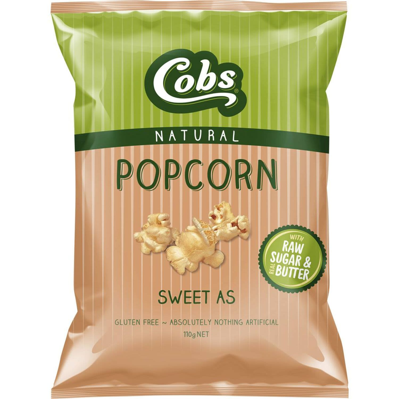 Cobs Popcorn Sweet As Gluten Free, 110 Gram
