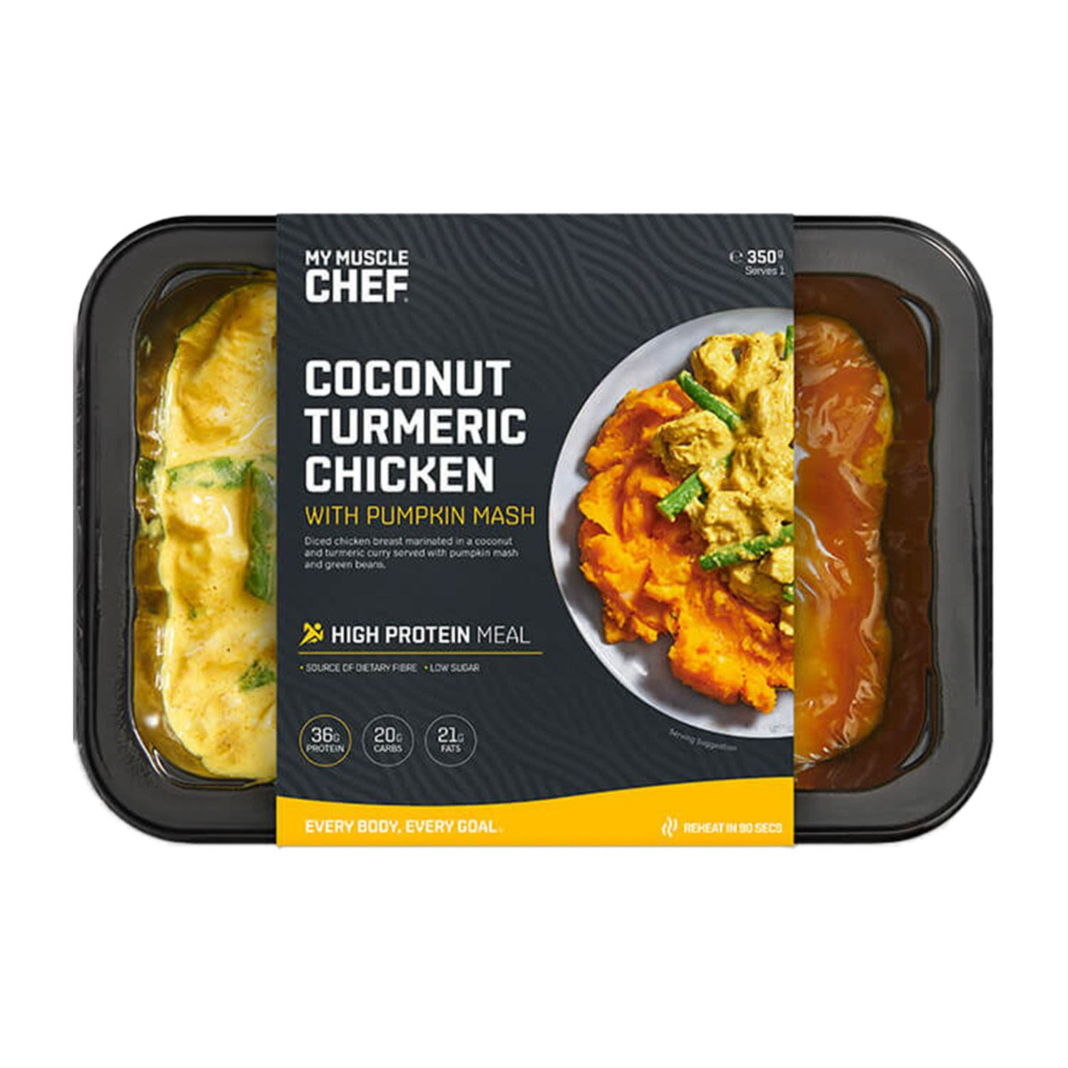 My Muscle Chef Coconut Turmeric Chicken with Pumpkin Mash, 330 Gram