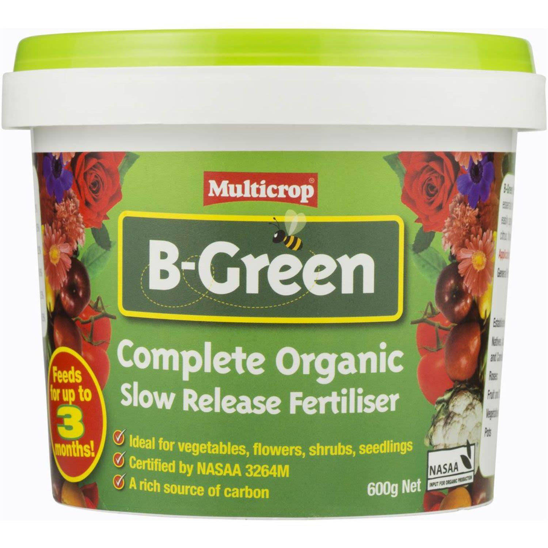 Multicrop B-green Organic Garden Fertiliser Slow Release, 600 Gram