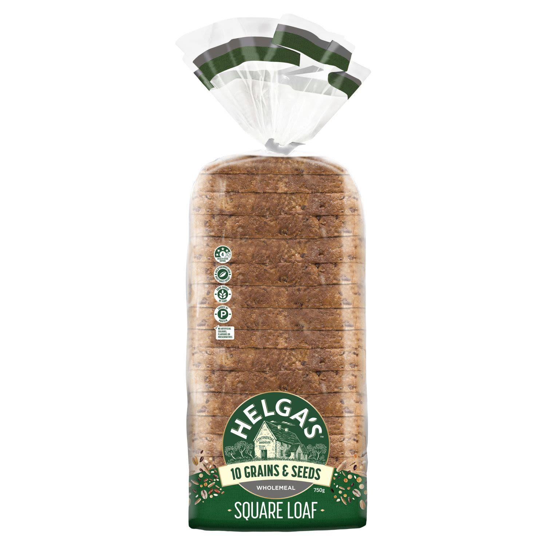 Helga's Square Wholemeal 10 Grains & Seeds, 750 Gram