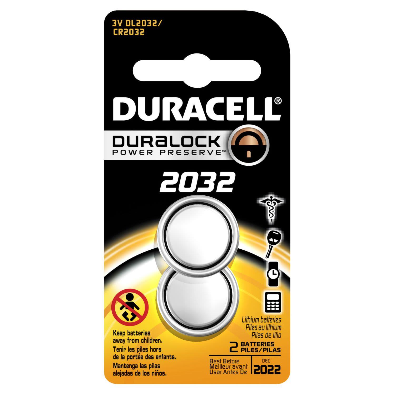 Duracell Button Cell Battery 2032, 2 Each