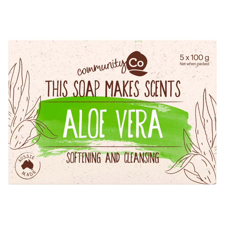 Community Co Aloe Vera Soap, 5 Each