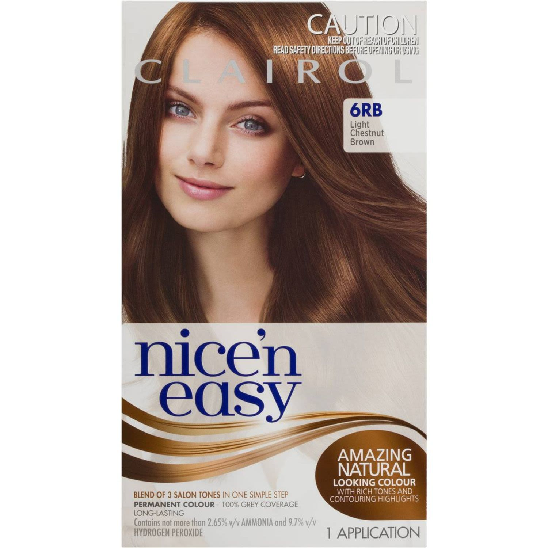 Clairol Nice N Easy Natural Chestnut Brown 6RB, 1 Each