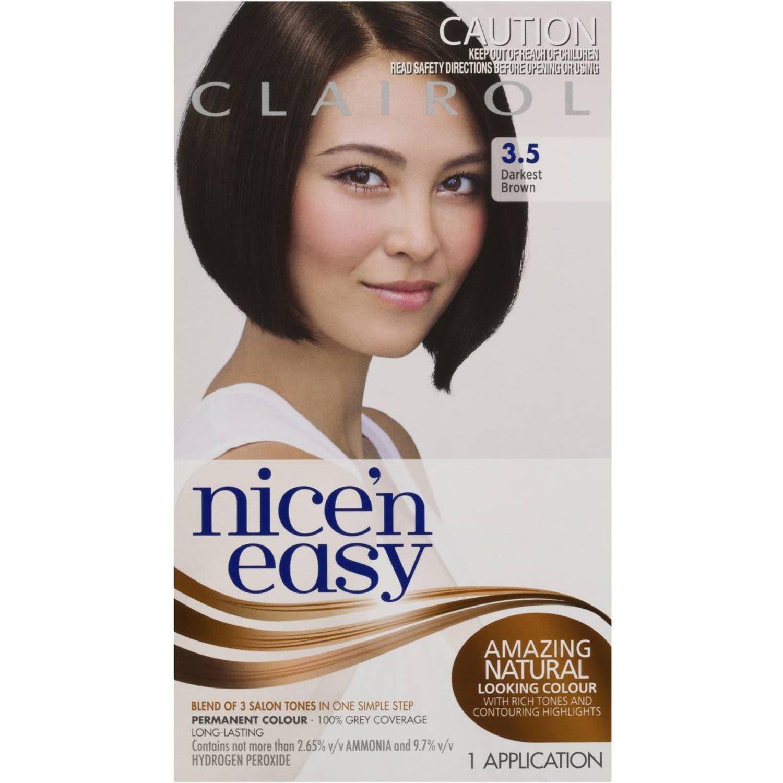 Clairol Nice N Easy Natural Darkest Brown 3.5, 1 Each