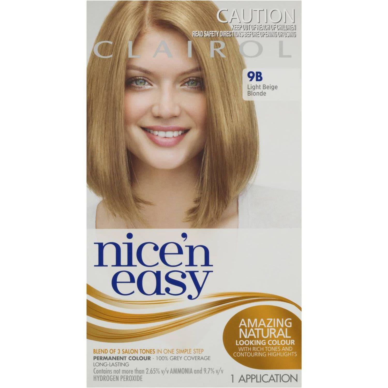 Clairol Nice N Easy Natural Light Beige Blonde 9B, 1 Each