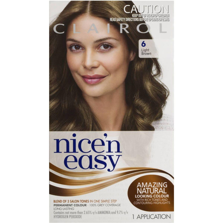 Clairol Nice N Easy Natural Light Brown 6, 1 Each