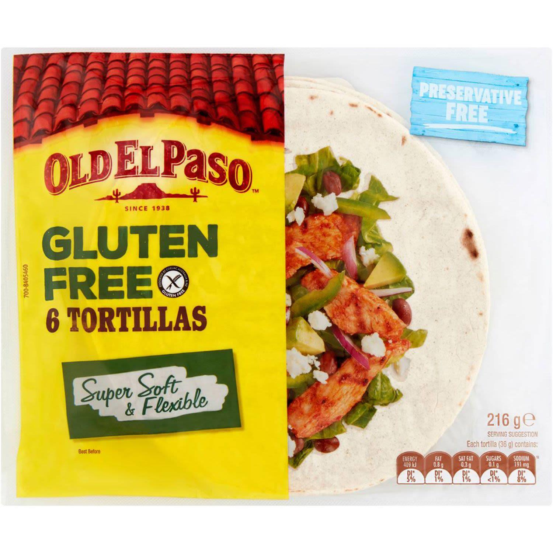 Old El Paso Gluten Free Tortilla, 6 Each