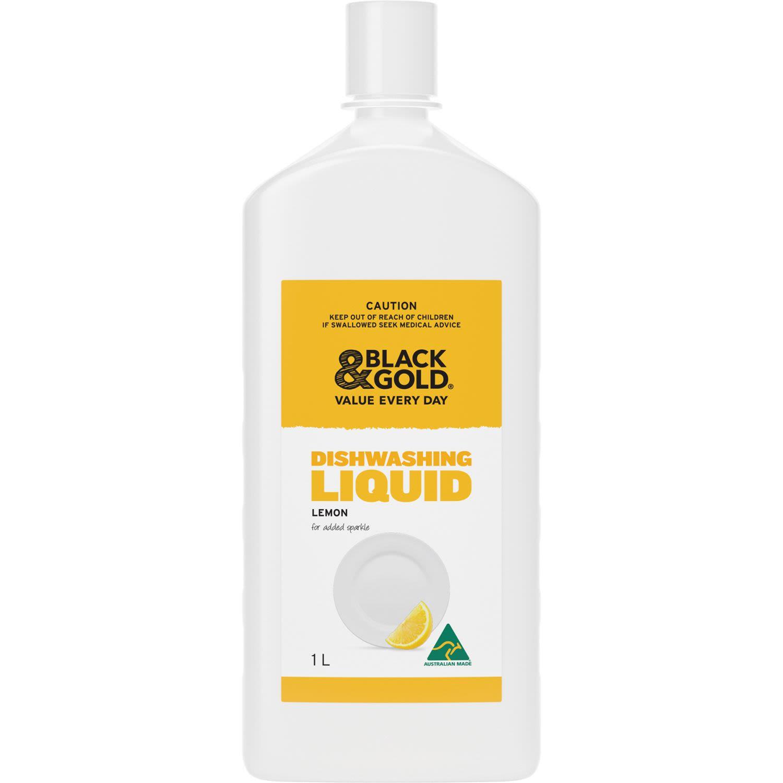 Black & Gold Lemon Dishwashing Liquid, 1 Litre
