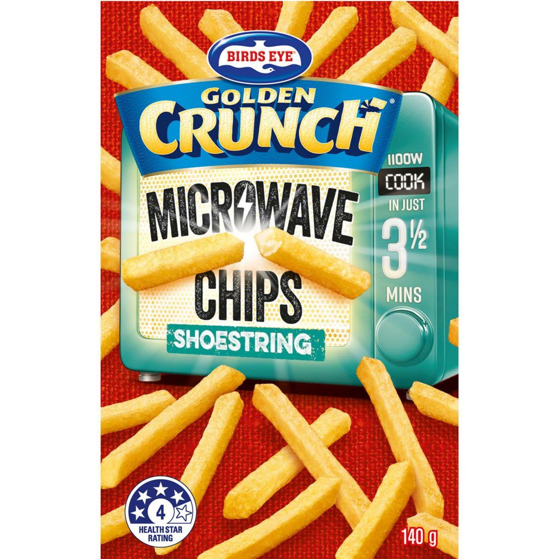 Birds Eye Microwave Chips Shoestring, 140 Gram