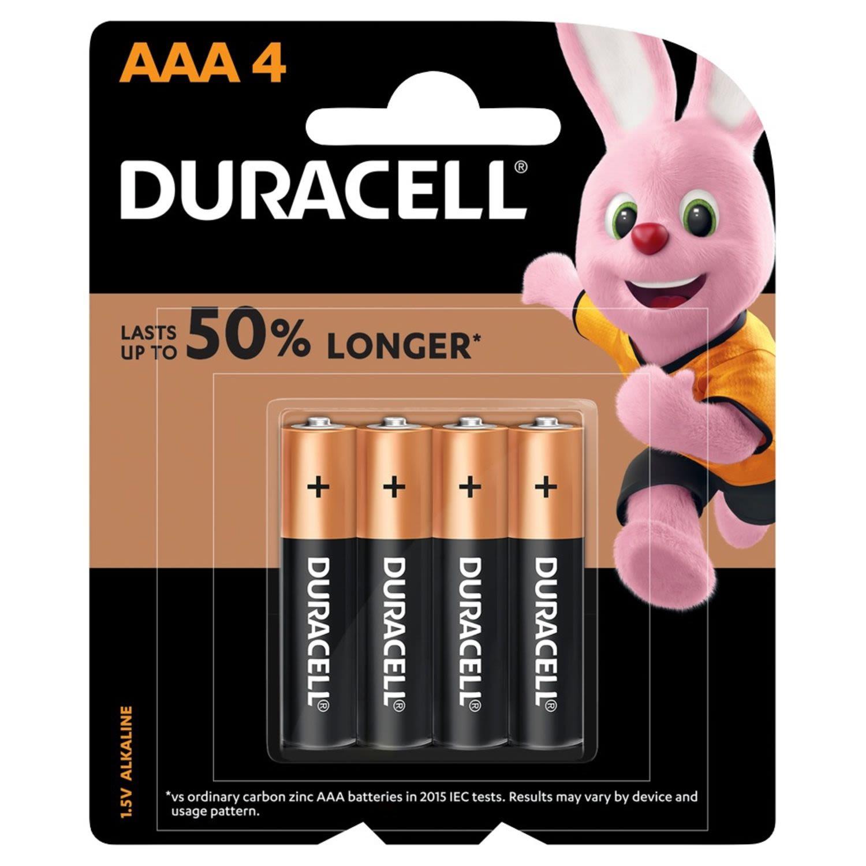 Duracell Coppertop Batteries AAA, 4 Each