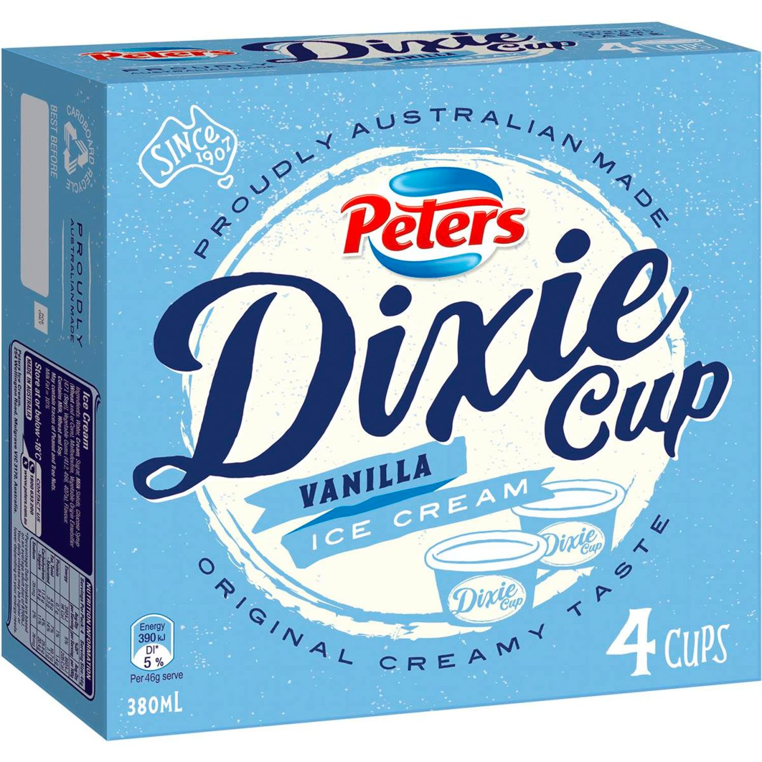 Peters Dixie Cup Vanilla, 4 Each