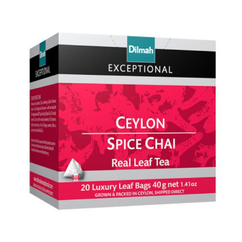 Dilmah Ceylon Chai Spice Tea Bag, 20 Each