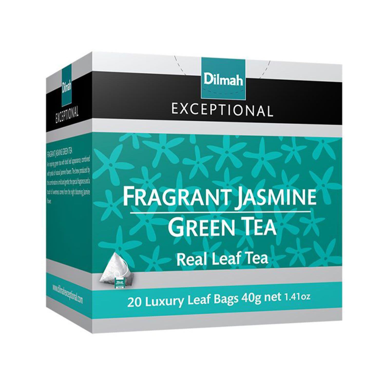 Dilmah Fragrant Jasmine Green Tea Bag, 20 Each