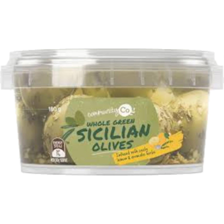 Community Co Sicilian Marinated Olives, 350 Gram
