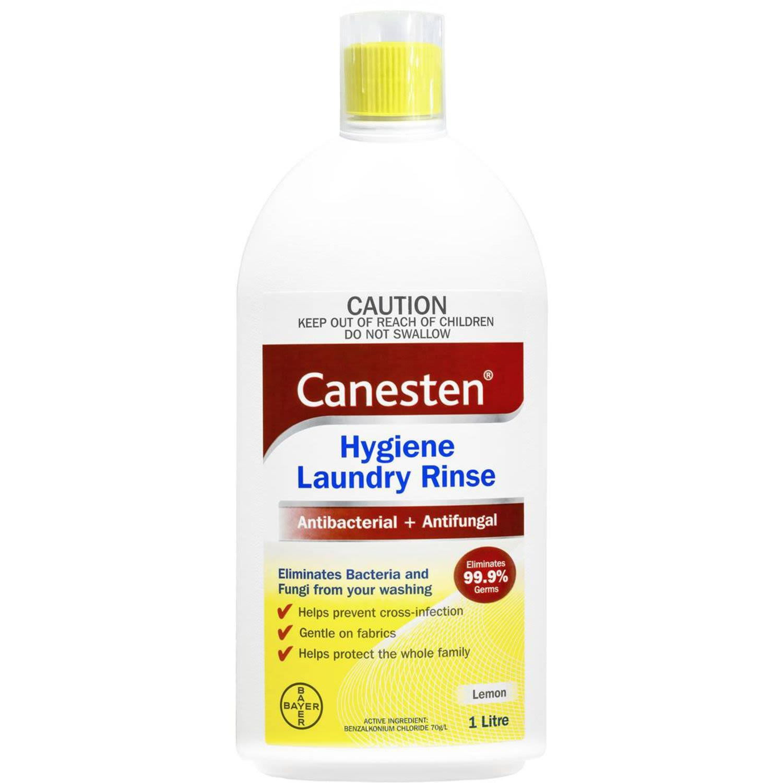 Canesten Antibacterial And Antifungal Hygiene Laundry Rinse Lemon, 1 Litre