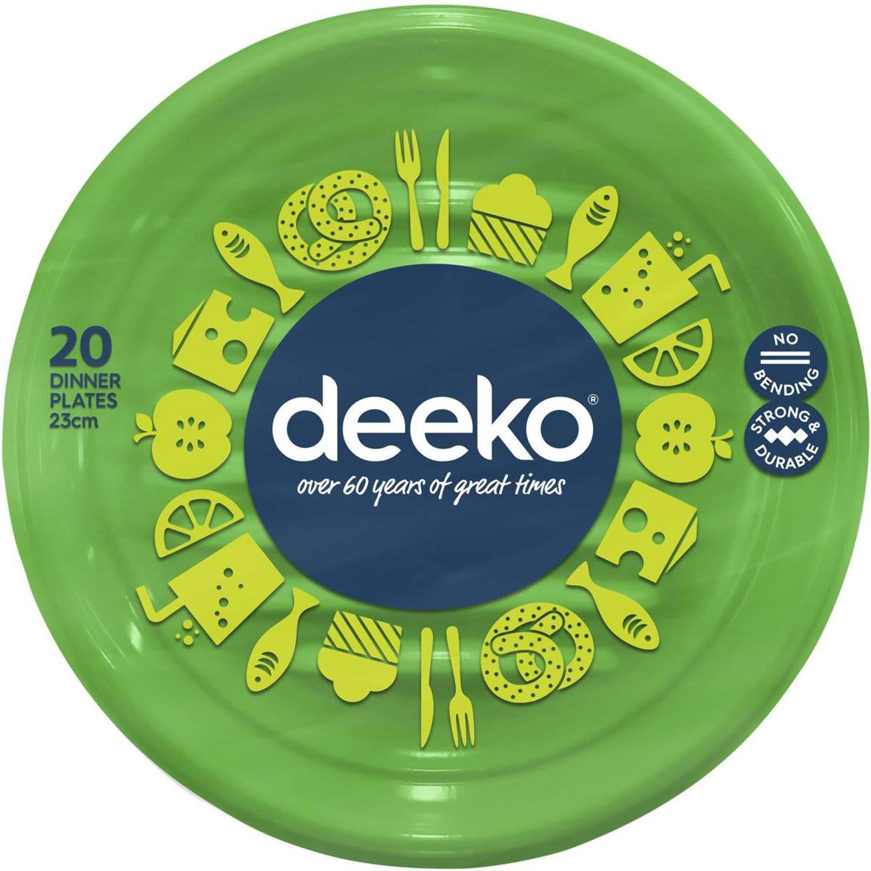 Deeko Dinner Plates Plastic, 20 Each