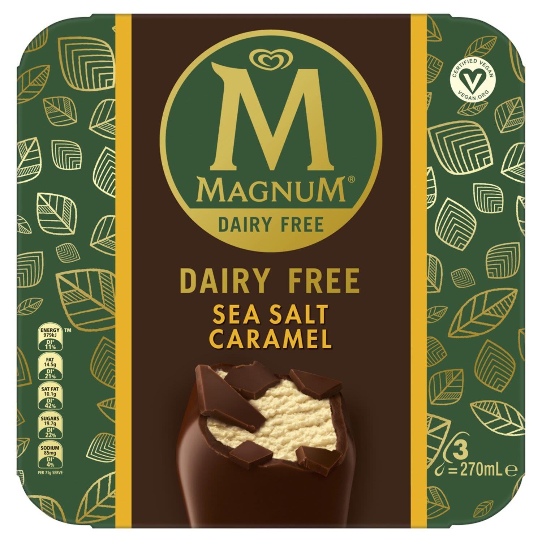 Magnum Dairy Free & Vegan Ice Cream Dessert Sticks Vegan Sea Salt Caramel Frozen, 4 Each