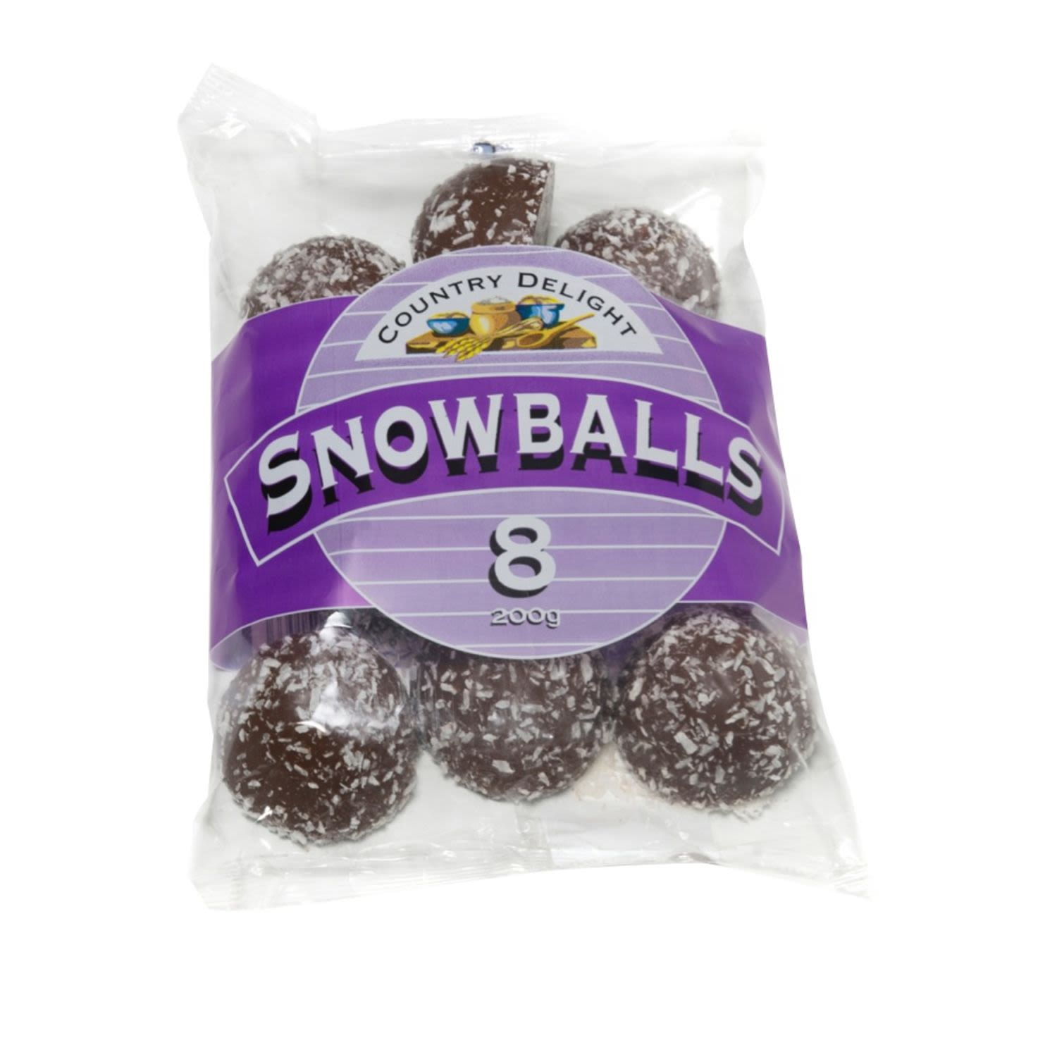 Country Delights Snowballs, 8 Each