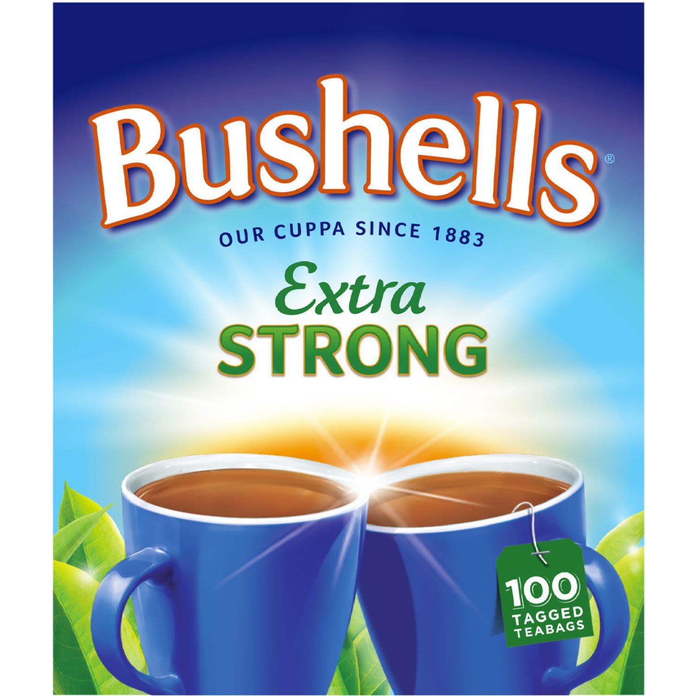 Bushells Extra Strong Black Tea Bags, 100 Each