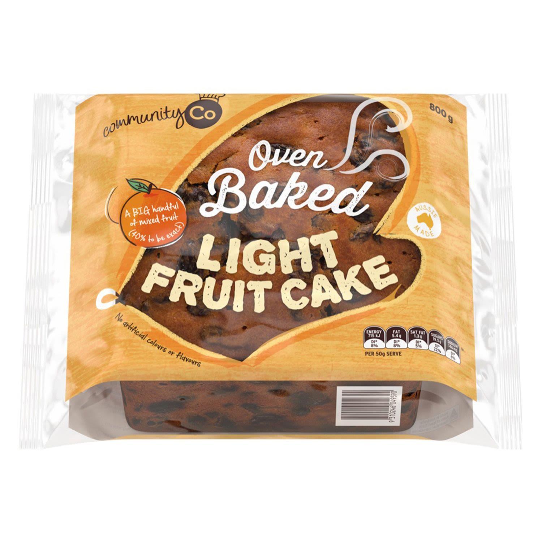 Community Co Fruit Cake Light, 800 Gram