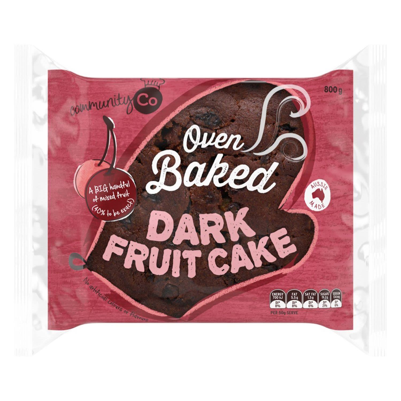 Community Co Fruit Cake Dark, 800 Gram