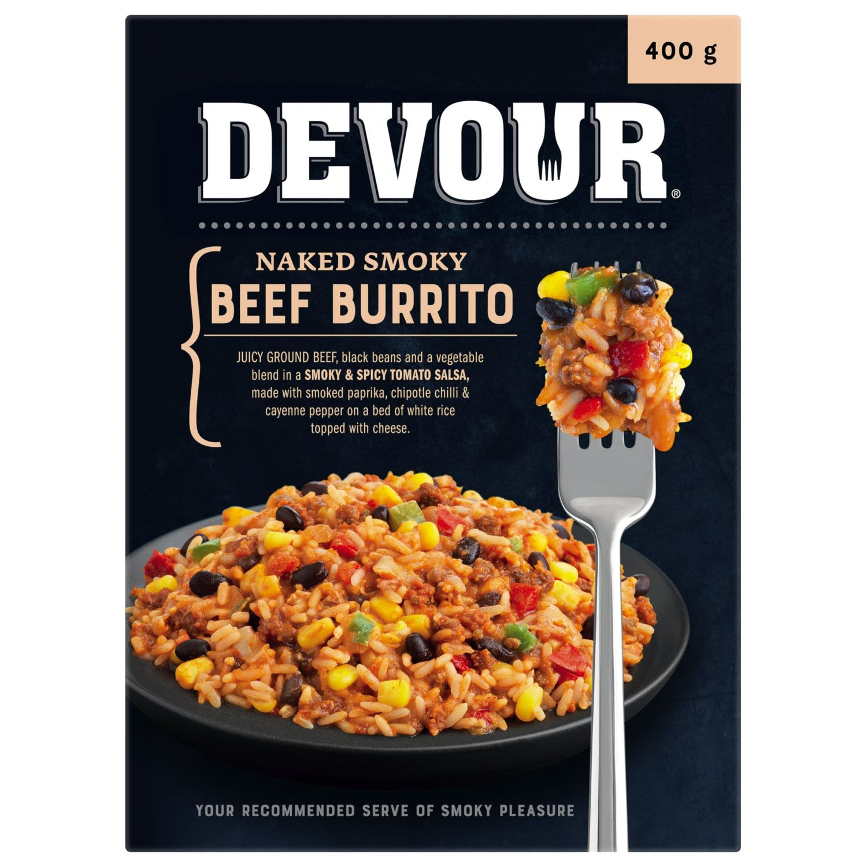 Devour® Naked Smoky Beef Burrito, 400 Gram