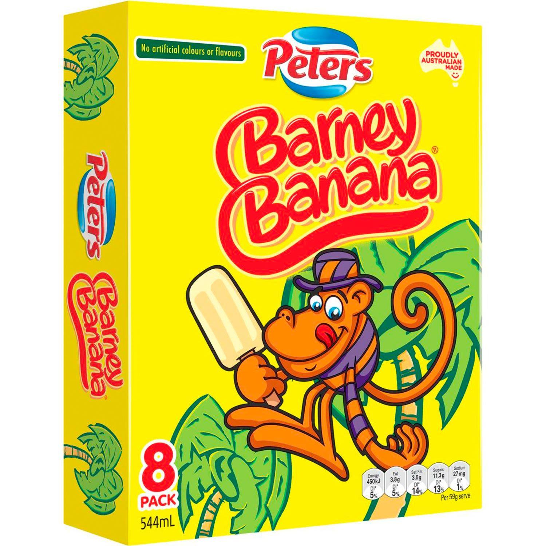 Peters Barney Banana Ice Cream, 8 Each