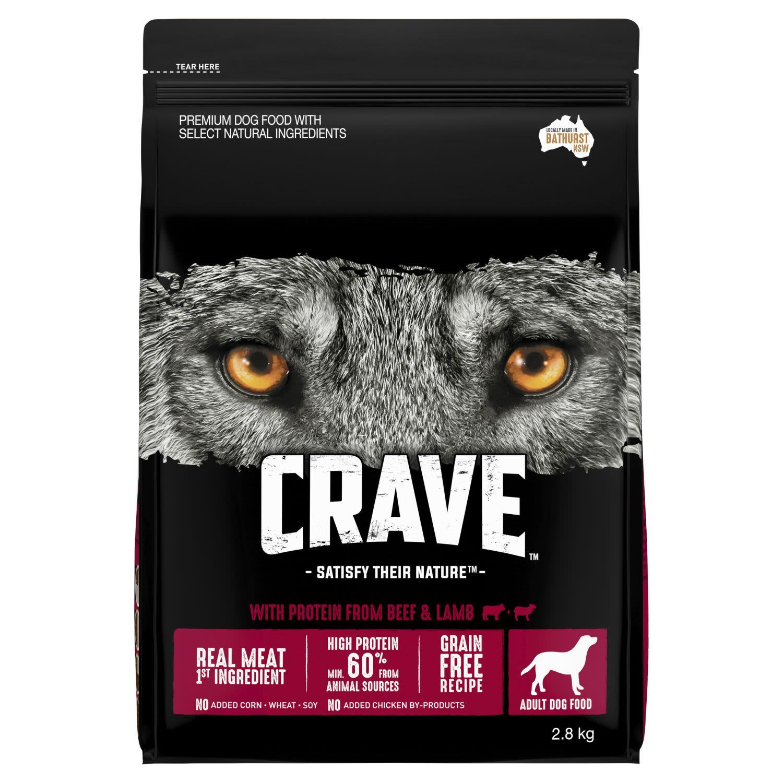 Crave Dry Dog Food Beef & Lamb Bag, 2.8 Kilogram