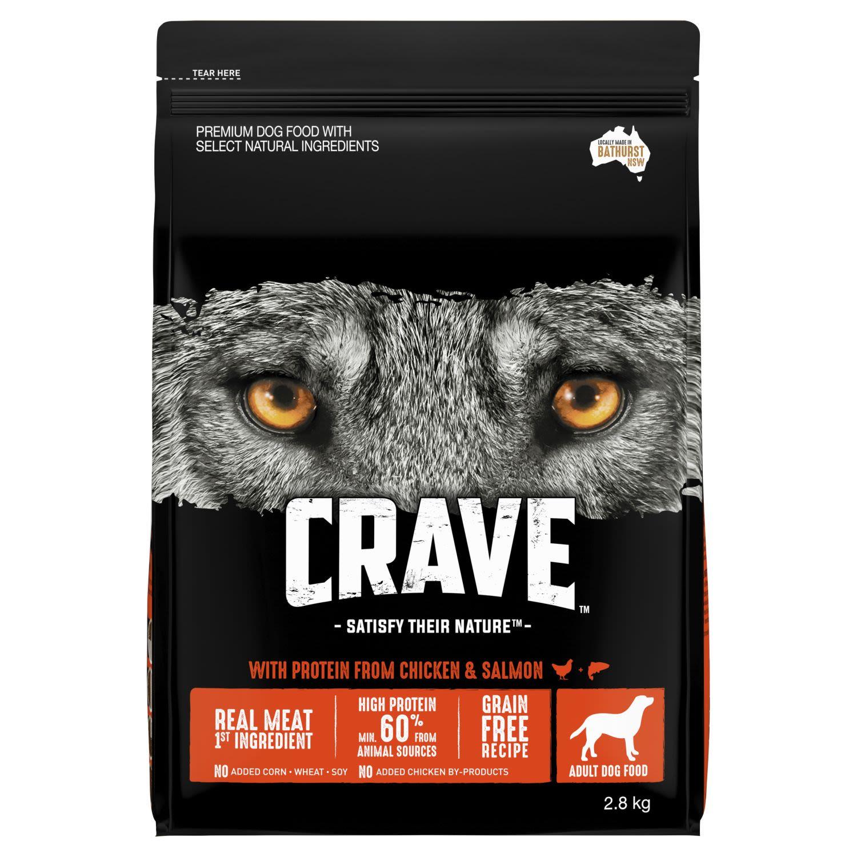 Crave Dry Dog Food Chicken & Salmon Bag, 2.8 Kilogram