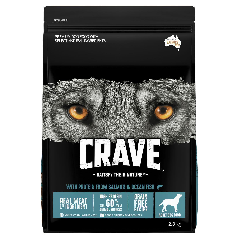 Crave Dry Dog Food Salmon & Ocean Fish Bag, 2.8 Kilogram