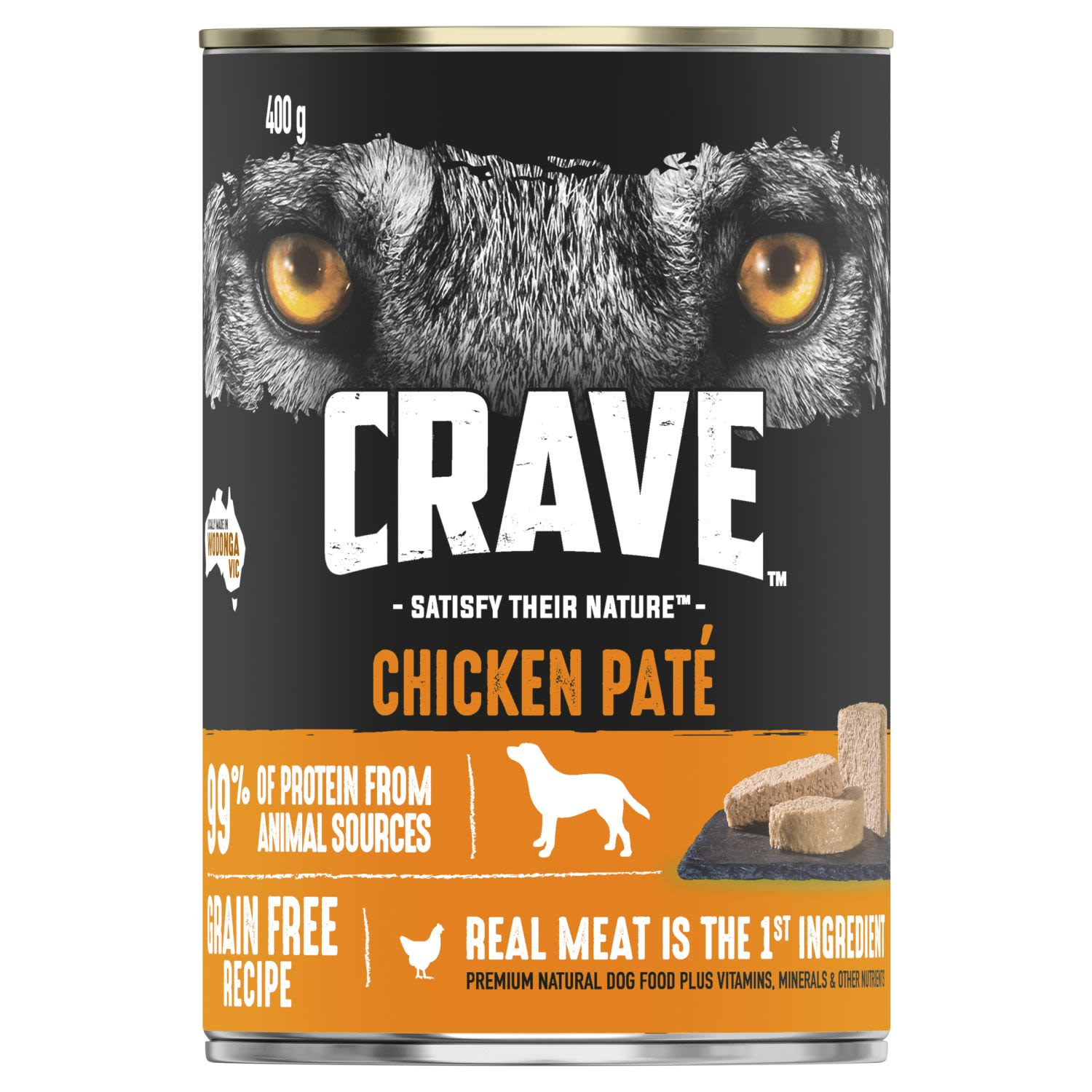 Crave Wet Dog Food Chicken Pate Can, 400 Gram