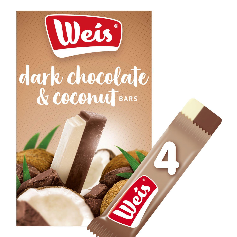 Weis Dairy Free Dark Chocolate & Coconut, 4 Each