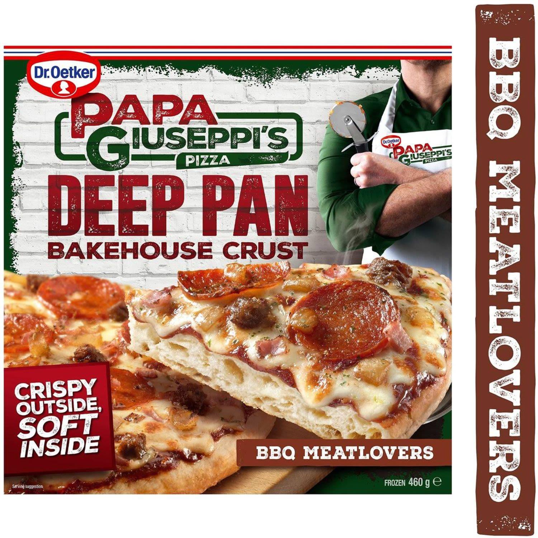 Papa Giuseppi's Deep Pan Bakehouse Crust BBQ Meatlovers, 392 Gram
