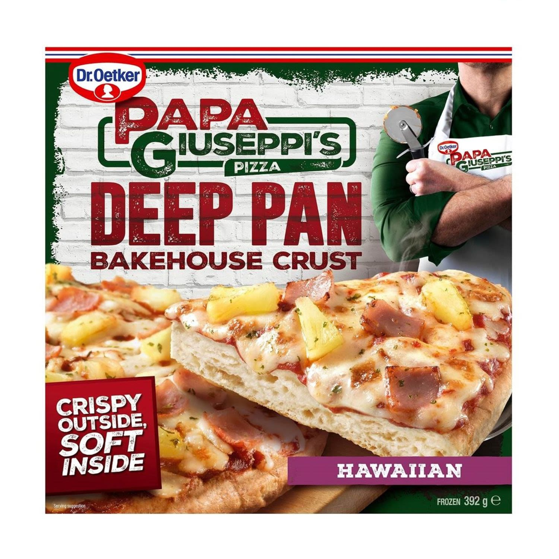 Papa Giuseppi's Deep Pan Bakehouse Crust Hawaiian, 392 Gram