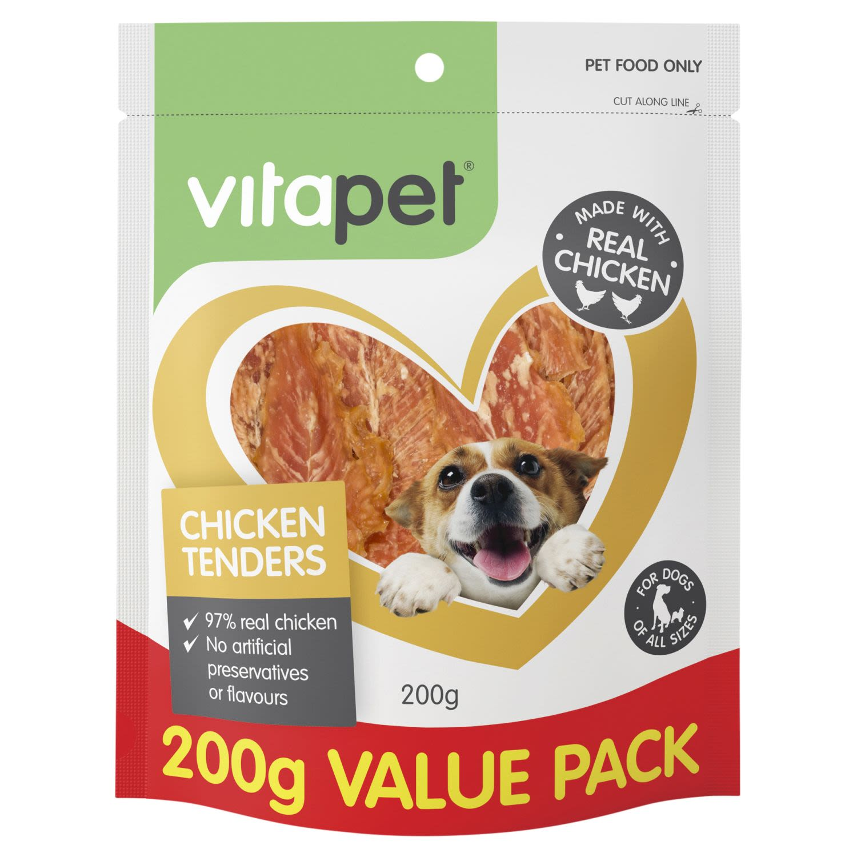 VitaPet Dog Treats Chicken Tenders, 200 Gram