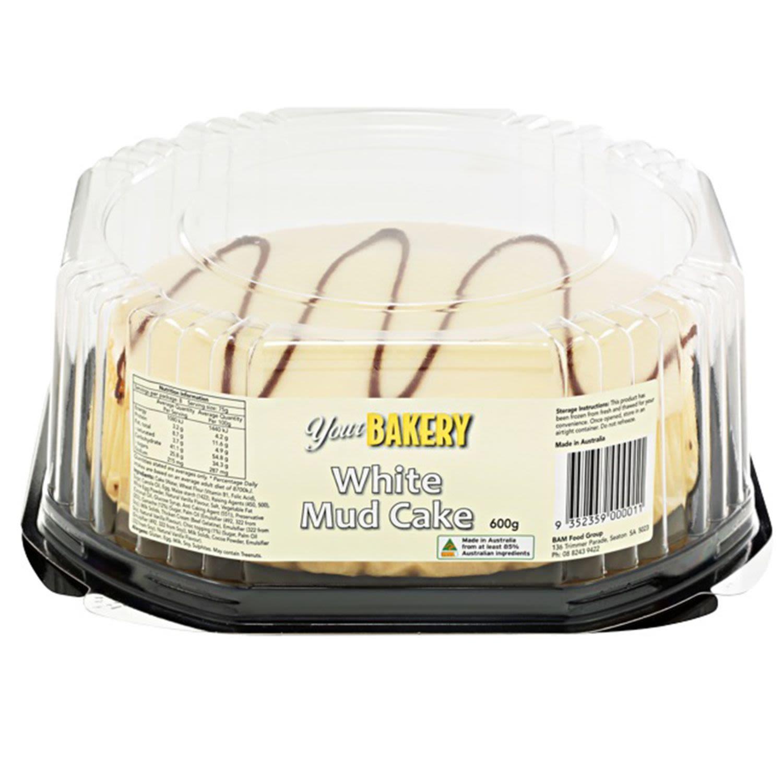 Your Bakery White Mud Cake, 600 Gram