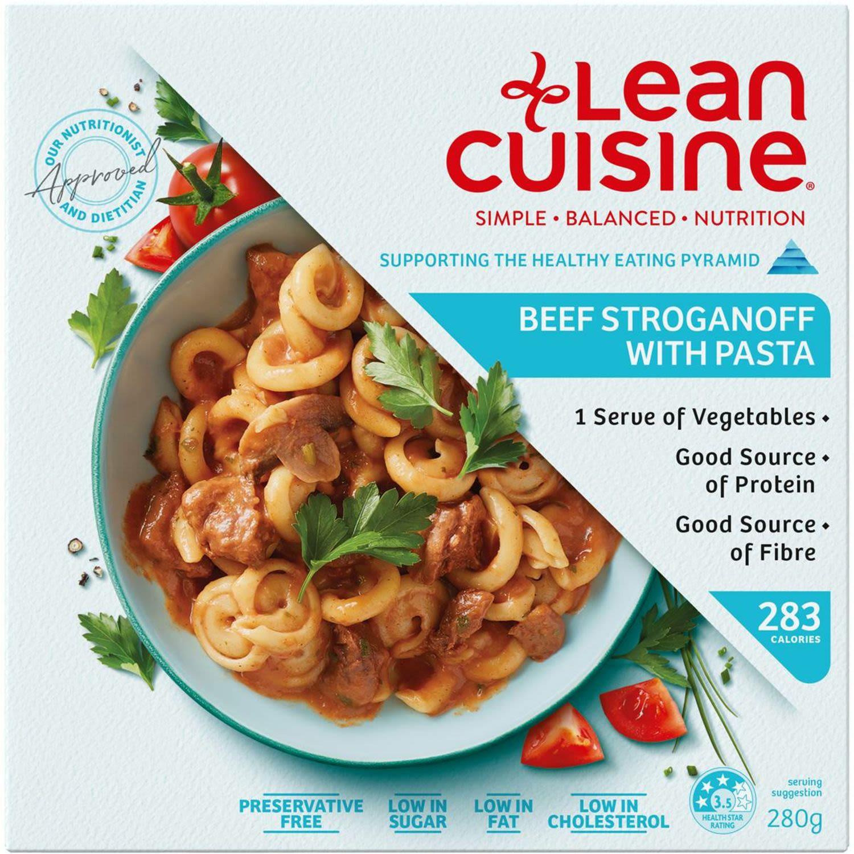 Lean Cuisine Beef Stroganoff Pasta, 280 Gram
